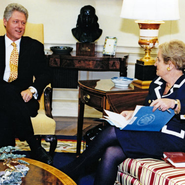 Former US president Bill Clinton made  Madeleine Albright the first female secretary of state in 1997.