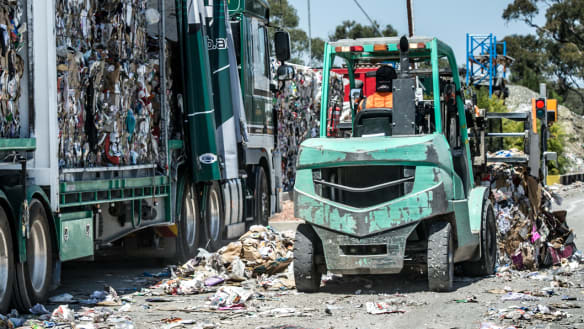 Recycling dumped in landfill after plant's temporary shutdown