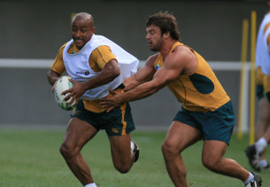 Freier and George Gregan at the 2007 Rugby World Cup.