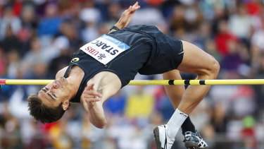 Going clear: Brandon Starc has equalled the Australian record for high jump.