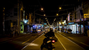 Melbourne's streets were still quiet despite the lifting of the curfew on Monday night.