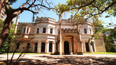 Tennis anyone: Elton John used the tennis court at The Swifts, the Darling Point estate of Dr Shane Moran.