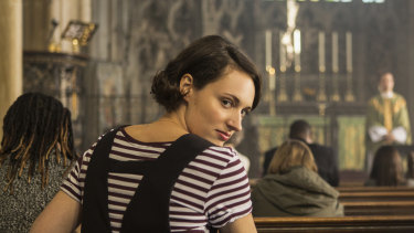 Phoebe Waller-Bridge regularly breaks the fourth wall to address viewers directly in Fleabag.