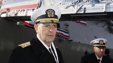 Admiral William Moran in 2018.