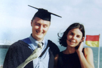 British tourists Peter Falconio (L) and his girlfriend Joanne Lees both  from Huddersfield, West Yorkshire are seen in this undated file photo released July 16, 2001.