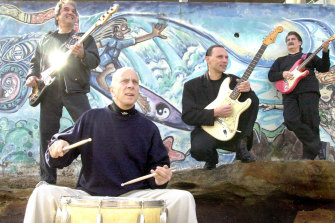 Peter Hood with other members of The Atlantics, including Jim Skiathitis at right.