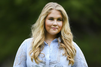 Netherlands' Princess Amalia, who turns 18 in December.