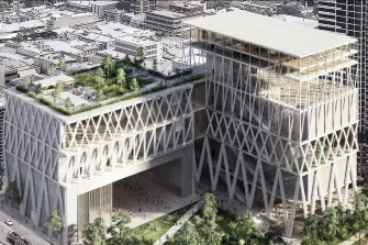 An artist's impression of the design for the new Powerhouse Museum in Parramatta.