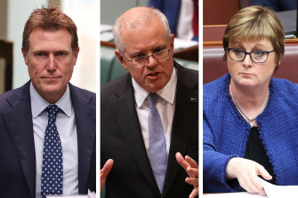 Christian Porter (left) and Linda Reynolds (right) will retain cabinet positions in Scott Morrison's reshuffle.