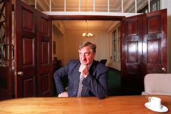 John Elliott in his Collins Street office.