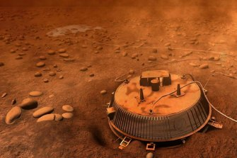 An artist's impression of the Huygens probe, which landed on Titan in 2005.