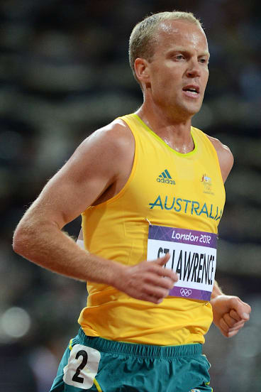 Australia's Ben St Lawrence during the final of the men's 10,000 metres at the 2012 London Olympics.