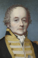 A portrait of William Bligh in 1814 by Alexander Huey.