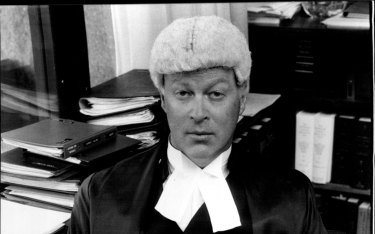 Justice David Hunt at the Supreme Court, 1980.