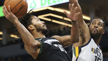 892f28fbc Rose drops 50 as Timberwolves top Jazz in NBA