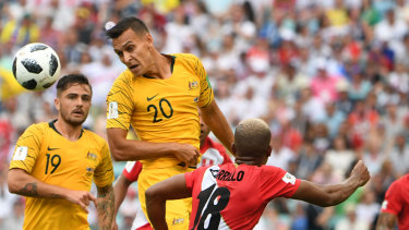 Foreman material? Trent Sainsbury is in the mix to take over from Mile Jedinak.