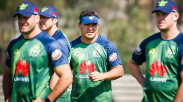 The Canberra Raiders have been slogging it out in the heat.