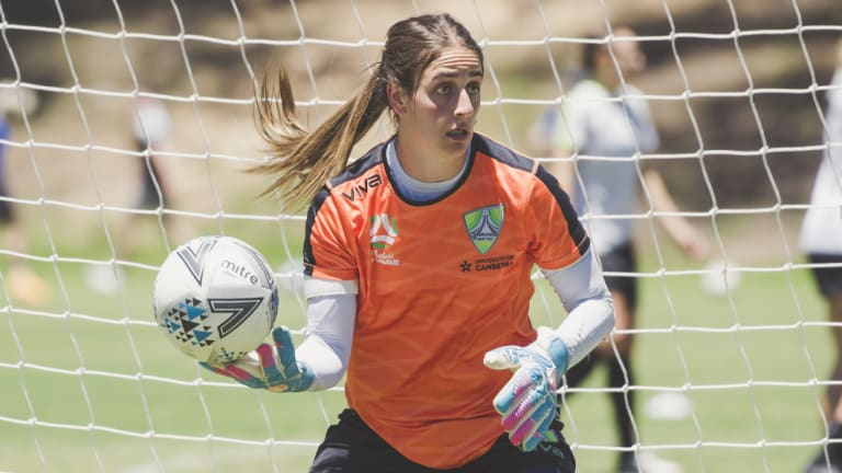 Canberra United goalkeeper Shamiran Khamis.