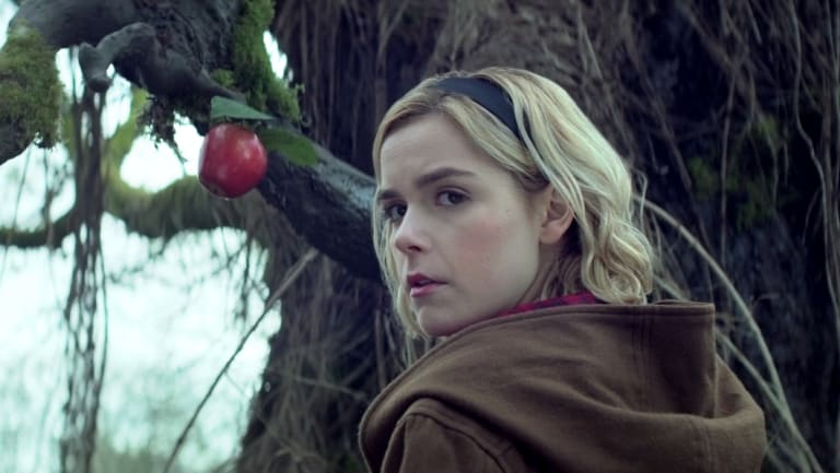 Kiernan Shipka plays the titular character in The Chilling Adventures of Sabrina.