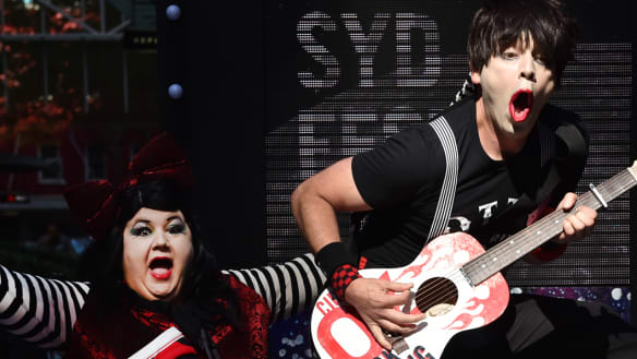 Pedal power takes Sydney Festival to the moon