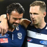 Geelong embrace finals pressure, Lions drop youngster