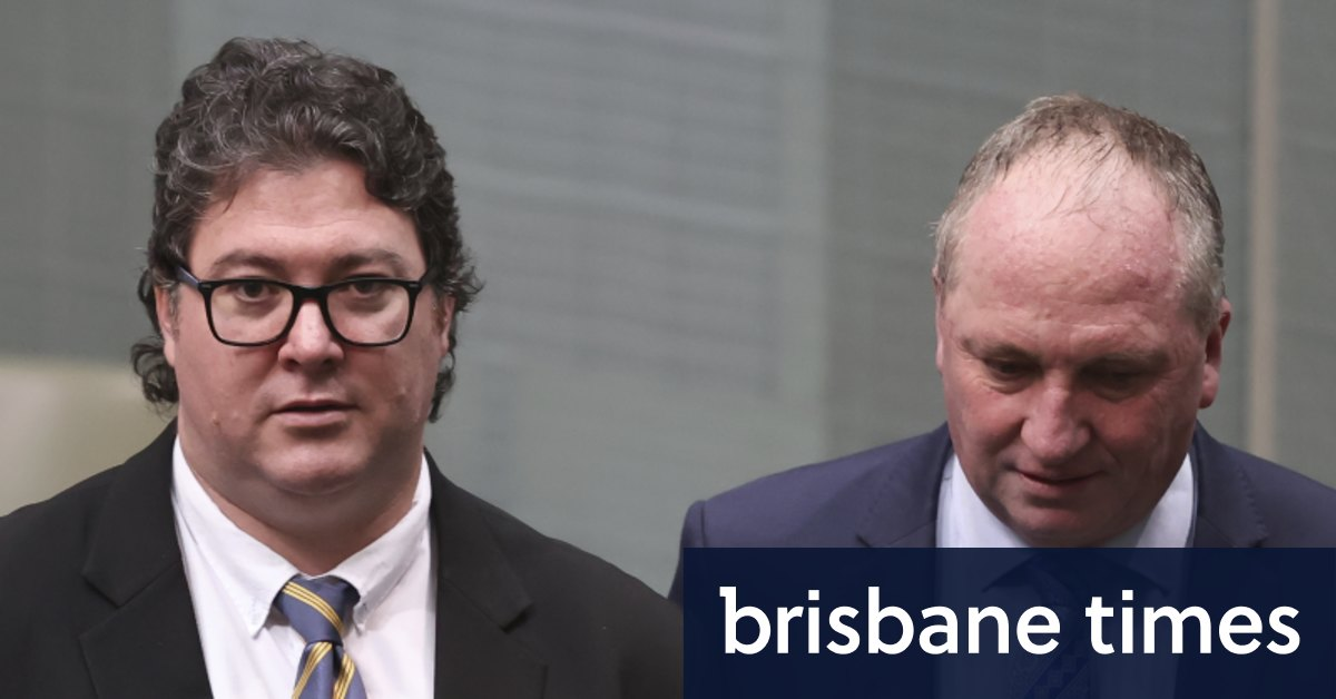 Barnaby Joyce hoping to persuade George Christensen to remain in politics