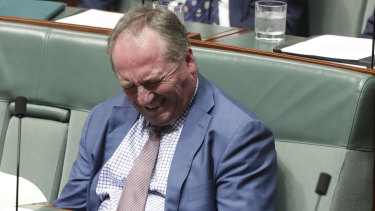 Did I really say that? Nationals MP Barnaby Joyce.