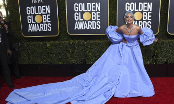 Lady Gaga at this year's Golden Globes awards.
