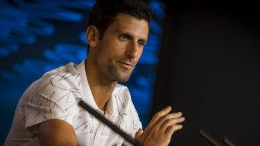 Novak Djokovic admits he was concerned watching Australian Open qualifiers suffer through severe smoke haze.