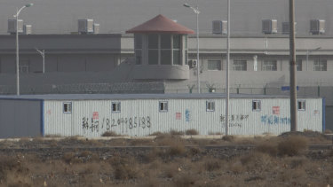 An internment camp in the Kunshan Industrial Park in Artux in China's Xinjiang region.