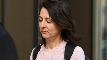 Esther Rockett outside court earlier this week.