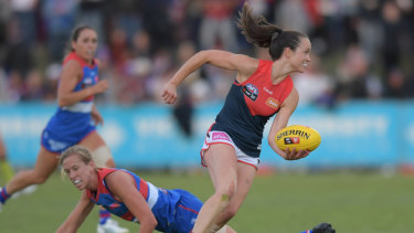 Daisy Pearce is angered by head office's likely AFLW moves.