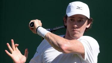 John-Patrick Smith had plenty to celebrate in the mixed doubles.