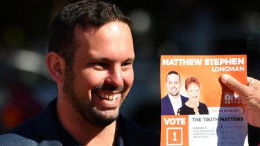 One Nation candidate Matthew Stephen.