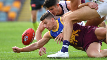 Dayne Zorko of the Lions in action during the Round 2 AFL match between the Brisbane Lions and the Fremantle Dockers at The Gabba in Brisbane last weekend.