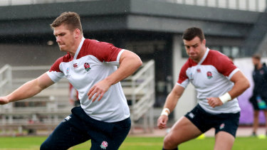 Playmakers Owen Farrell (left) and George Ford are back together in England's starting line-up.