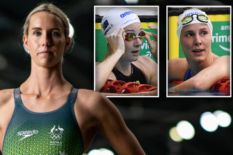 Emma McKeon, Cate Campbell and Bronte Campbell.