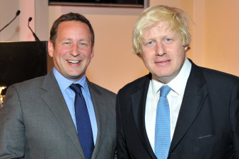 Former minister Ed Vaizey pictured with then-mayor of London Boris Johnson in 2013.