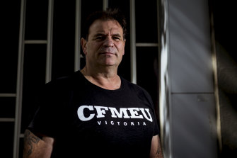 CFMEU's John Setka has denied assaulting his wife