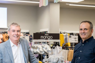 Best & Less chairman Jason Murray and chief executive Rod Orrock.
