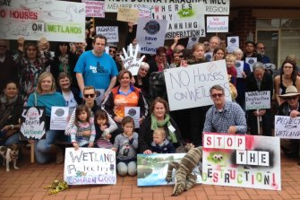 Residents trying to save a Bayswater wetland from being subdivided for a housing development.