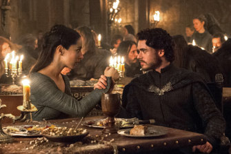 Robb Stark (Richard Madden) and Talisa (Oona Chaplin) in the infamous red wedding episode.