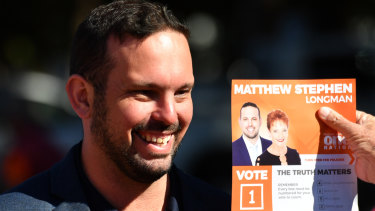 One Nation candidate Matthew Stephen.