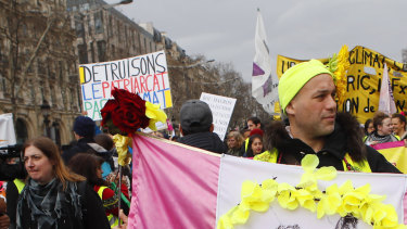 French yellow vests protested for a 17th straight weekend in Paris and other cities against the government's economic policies they see as favouring the rich.