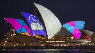 Racing NSW beamed a promotion for The Everest race on to the Sydney Opera House.