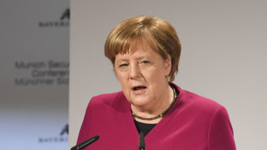 German Chancellor Angela Merkel was unusually frank in her assessment of the effects of US foreign policy at the Munich conference on Saturday.