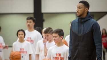 Simmons will continue to host the junior basketball camps his family runs in Melbourne and Sydney.