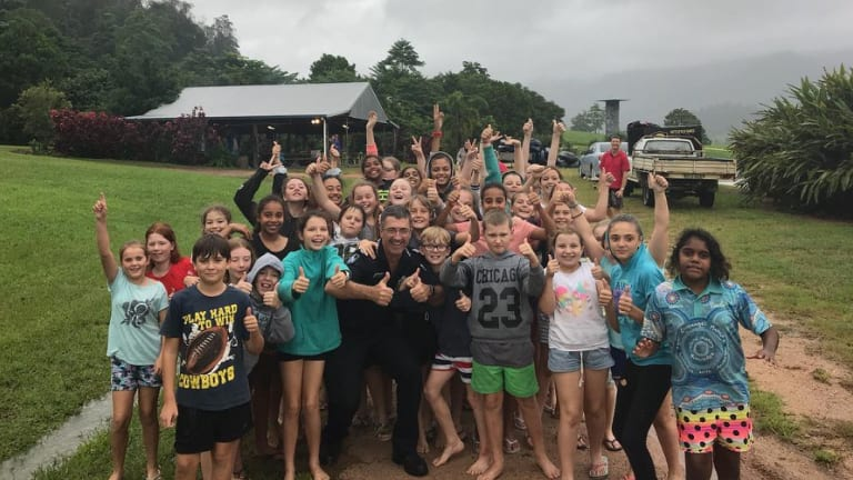 Near Tully, 71 year 6 students are being cared for by eight staff after they were flooded in at Echo Creek Adventure Camp.