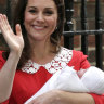 Kate, Duchess of Cambridge, leaves hospital with third child