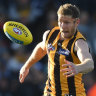 Ankle injury rules Hawthorn ruckman Ben McEvoy out for a month